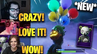 Streamers First Time Using *NEW* Balloons + Spooky Team Leader Skin! | Fortnite Highlights
