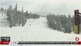 More than a foot of snow falls at Lake Tahoe ski resorts