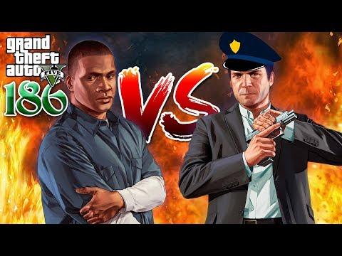 Franklin VS Michael - Franklin ប៉ះប៉ូលីស Michael - GTA 5 Redux Real Life Ep186 Khmer VPROGAME