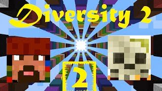 Minecraft: Diversity2 map /w Mr_Jackp0t: Ep2 DROPPER DROPPER DROPPER !!!