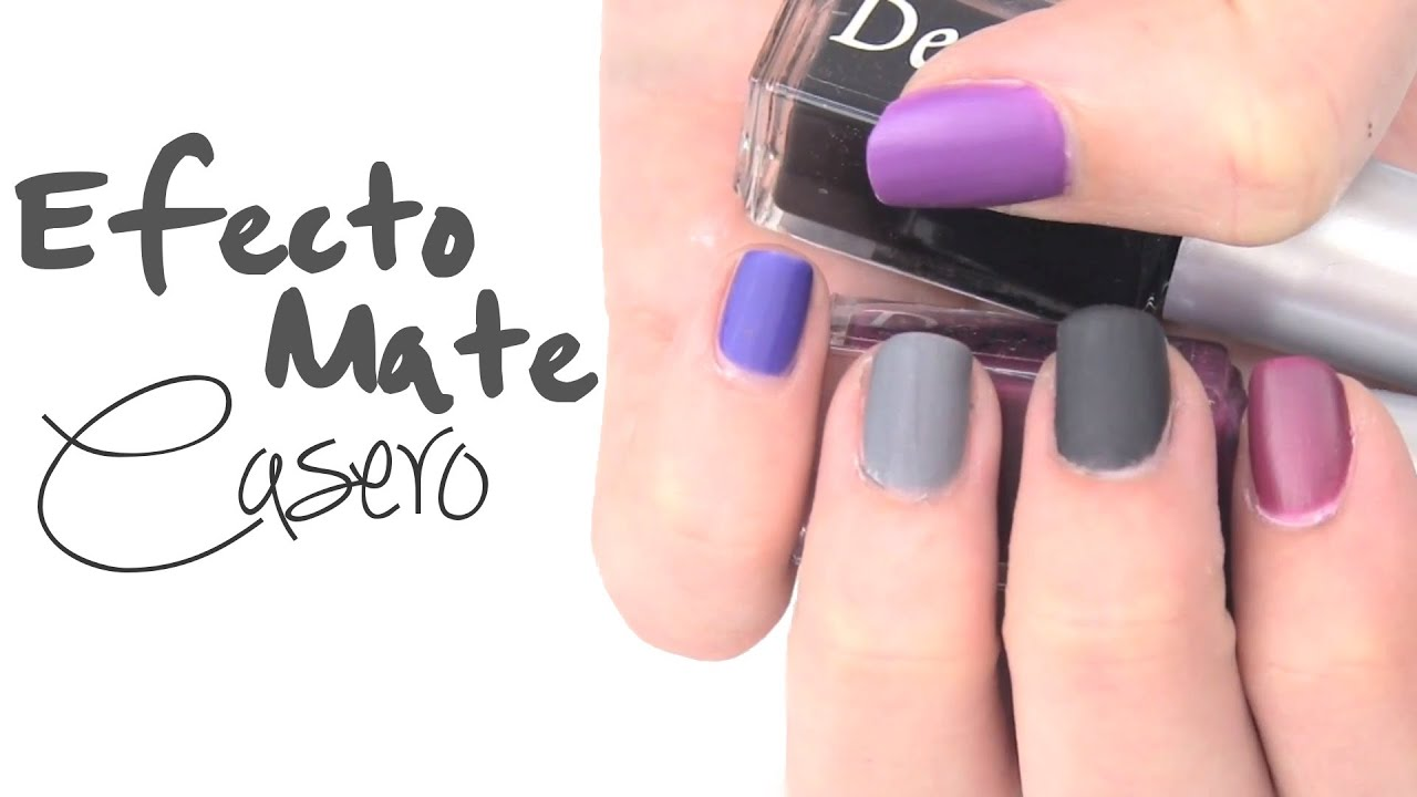 Diy esmalte de u as casero mate youtube - Unas decoradas faciles ...
