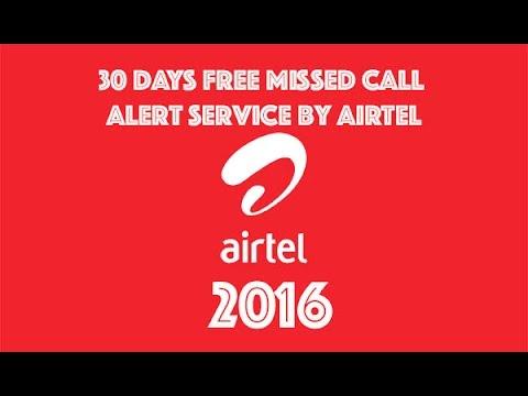 Free Airtel Missed Call Alert 30 Days Mumbai