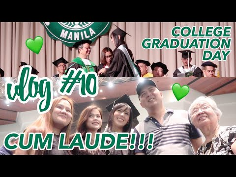 Vlog #10: DLSU College Graduation (October 2017) | Eunice Santiago