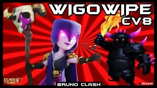 Planejando seu Ataque: WIGOWIPE em CV8 - Clash of Clans - Bruno Clash