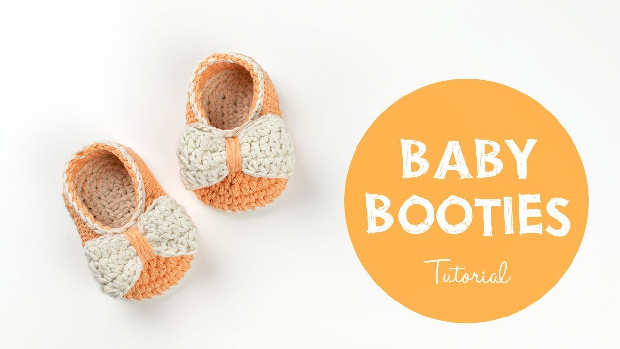 9725f7b28455 How To Crochet Cute and Easy Baby Booties for Beginners