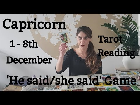 CAPRICORN - YOU GOTTA BE COLD AS ICE... 1 - 8 December LOVE TAROT READING