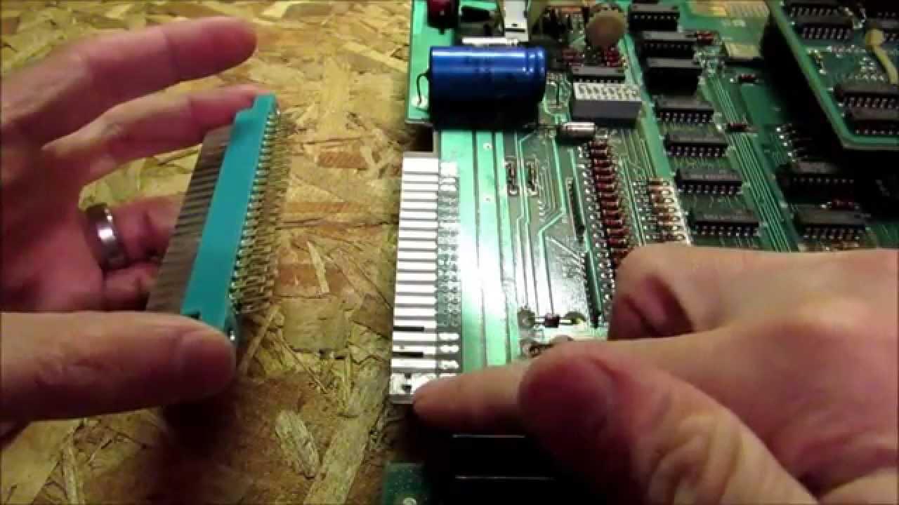 Ms  Pac-Man PCB Edge Repair Using a New Fingerboard