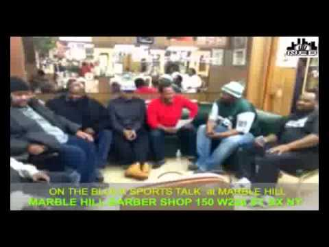 ON THE BLOCK SPORTS TALK LIVE AT MARBLE HILL BARBERSHOP BRONX  1 13  2013  DBNEBMUSIC BRONXNET.flv