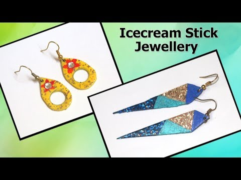 Icecream Stick Latest Crafts | Jewellery Making | Popsicle Stick Crafts | DIY Jewelry
