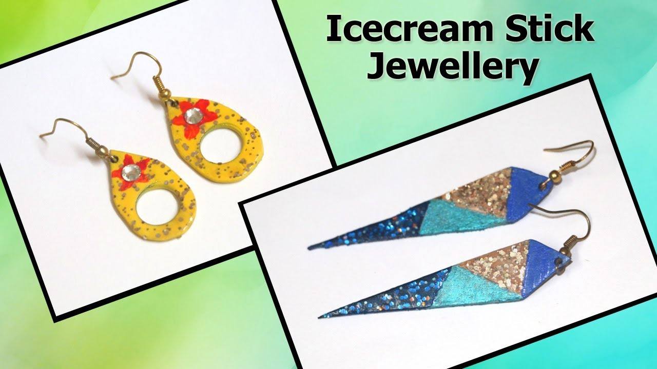 Icecream Stick Latest Crafts Jewellery Making Popsicle Stick