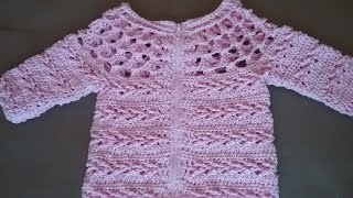 Детский жакет крючком/  Knitting children's jacket