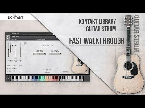Guitar Strum Kontakt Library Fast Walkthrough Youtube
