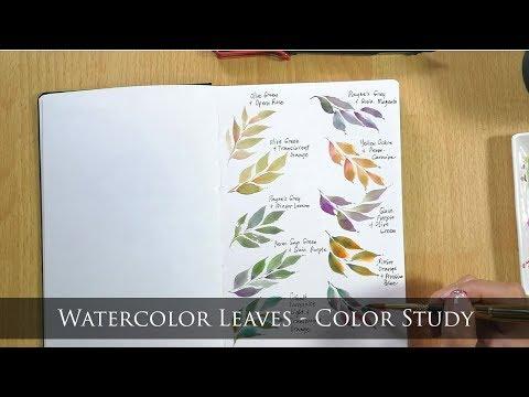Color Study Part 1 (Watercolor Leaves) Mp3
