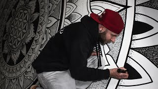 Drawing a Massive Dotwork Mandala