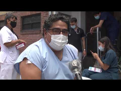 Empezó la vacunación en el Hospital Cordero