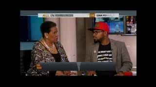 rep karen bass joins myrlie evers williams the dream defenders phillip agnew on msnbc s all in