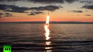 Rocket test-fire trio from Russian navy destroyer, on-shore and submarine