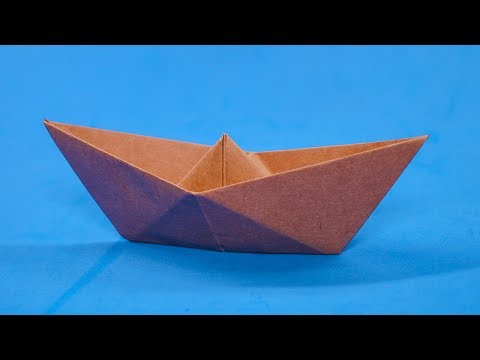 Easy #Origami Paper #Boat - How To Make A Simple Origami Boat That Floats