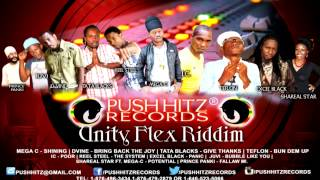 Unity Flex Riddim (Push Hitz Records) Ft. Teflon, Tata Blacks, Mega C & More - June 2014