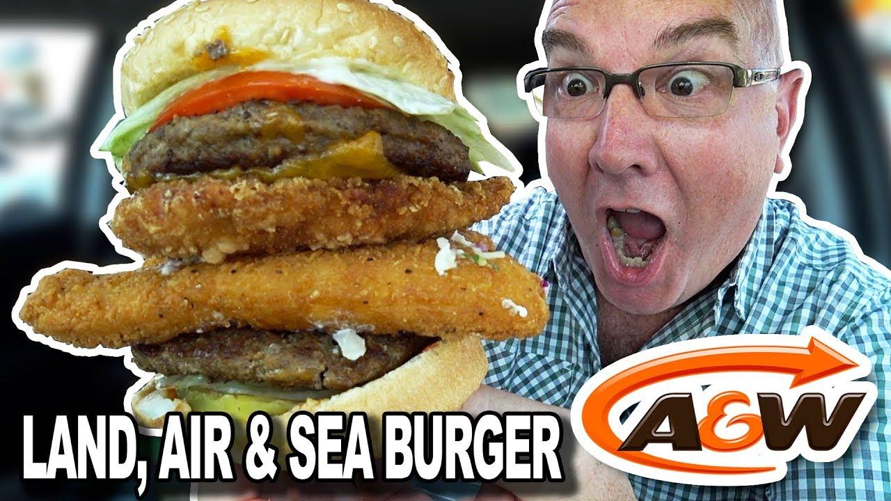 A&W ⭐ SECRET MENU ITEM ⭐ LAND, AIR & SEA Burger