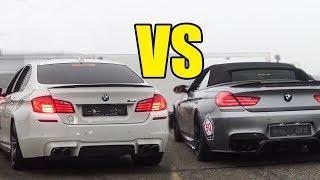 BMW M5 F10 Vs BMW M6 - RACE!