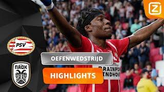PSV SPEELT IJZERSTERK! 🦾😎 | PSV vs PAOK | Oefenwedstrijd 2020/21 | Samenvatting