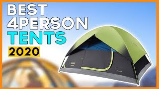 Best 4 Person Tents 2020 - Top 5 Affordable 4 Person Tent For Camping & Backpacking