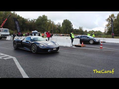 drag race porsche 918 spyder vs bugatti veyron 16 4 youtube. Black Bedroom Furniture Sets. Home Design Ideas