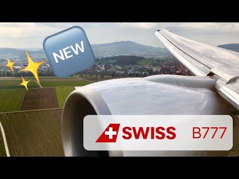 Brand New SWISS Boeing 777 Landing in Zürich