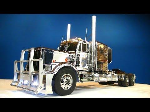 "RC ADVENTURES - Tamiya 1/14 RC Chrome King Hauler Semi Truck Futaba MFC-01 6"" Stretch"