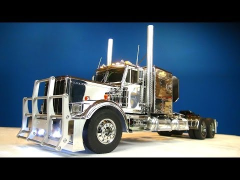 "RC ADVENTURES - Tamiya 1/14 RC Chrome King Hauler Semi Truck Futaba MFC-01 6"" Stretch"