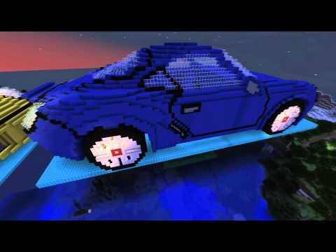 Minecraft 3D Art: Porsche Cayman S- Exterior