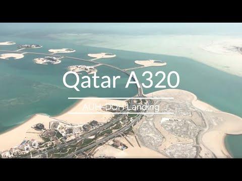 Qatar A320 | Abu Dhabi to Doha City view Landing