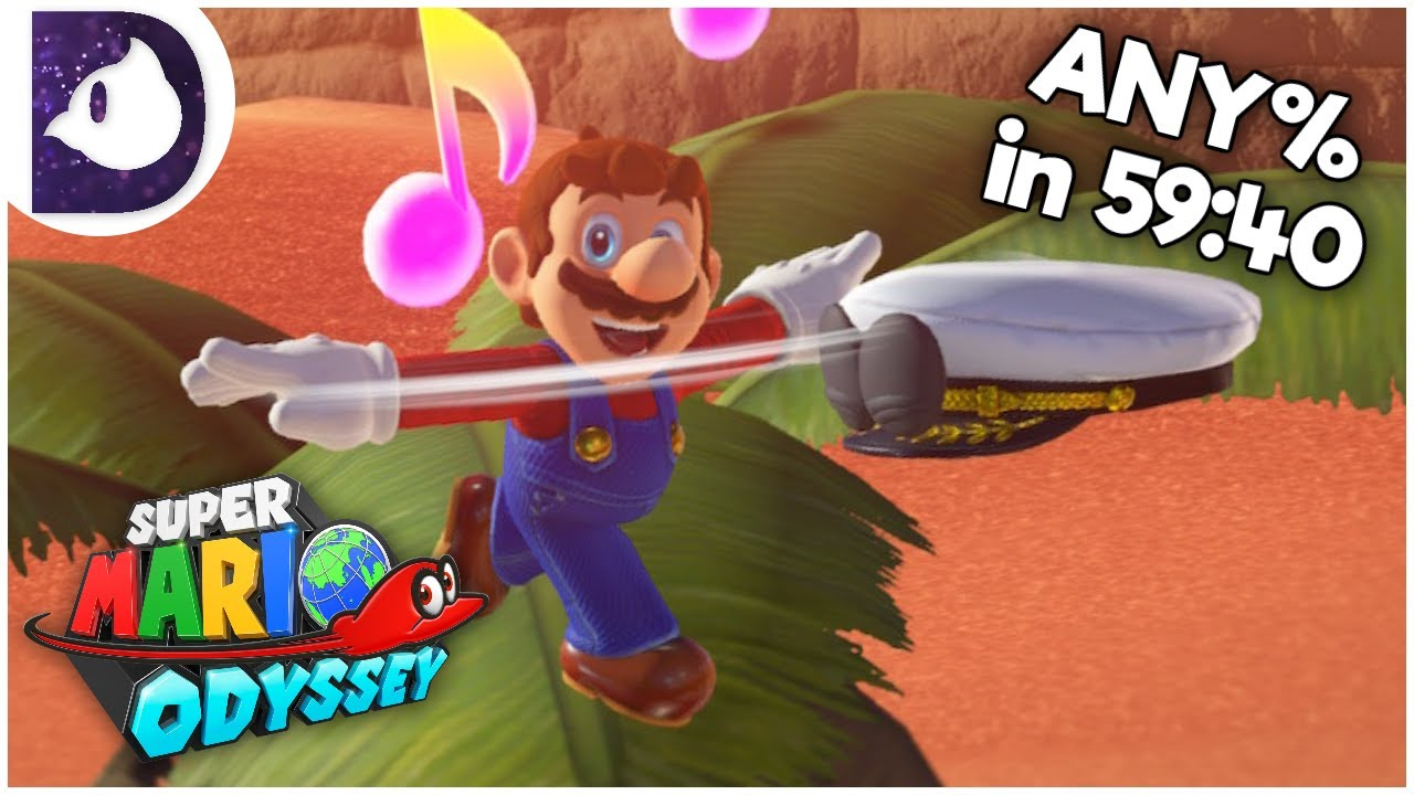 Any% Speedrun in 59:40 - Super Mario Odyssey