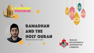 MKAC Ramadan Q/A Series 2021 | Ramadan and the Holy Quran