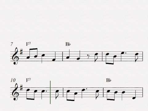 O Christmas Tree O Tannenbaum  Free easy Christmas alto saxophone sheet music