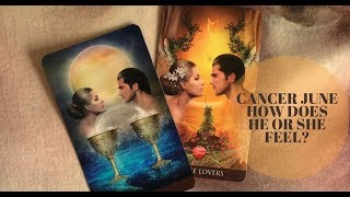 CANCER   HOW DOES HE OR SHE FEEL ABOUT YOU?   JUNE 2018 TAROT