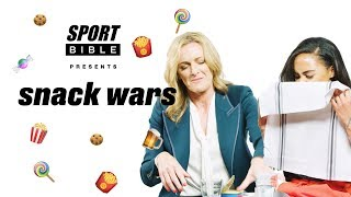 """That tastes like someone spat it out  Gabby Logan and Alex Scott play Snack Wars UK v Japan"