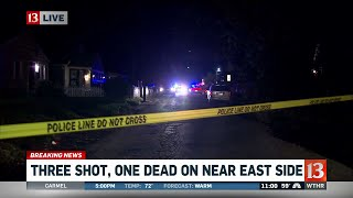 Three shot, one dead on east side