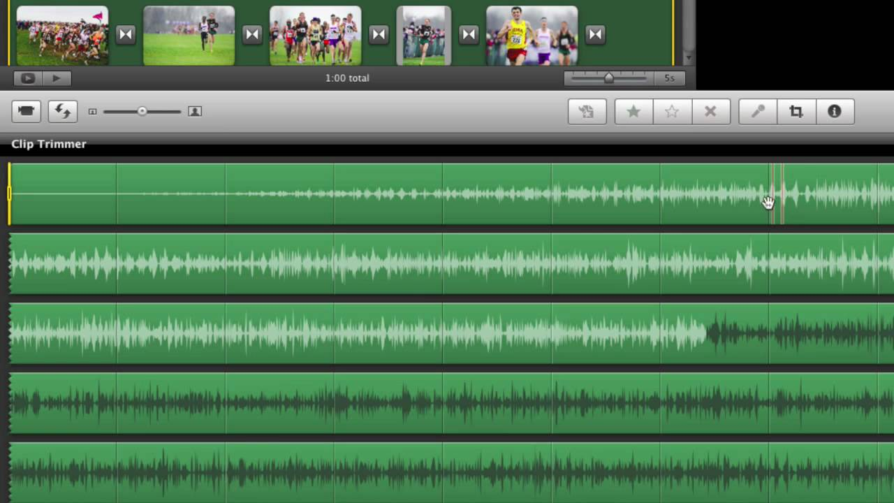 Editing Audio Clips In Imovie With Clip Trimmer Youtube
