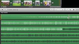 Editing audio clips in iMovie with clip trimmer thumbnail