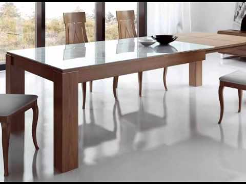 Mesas y sillas de comedor youtube for Mesas y sillas comedor madera