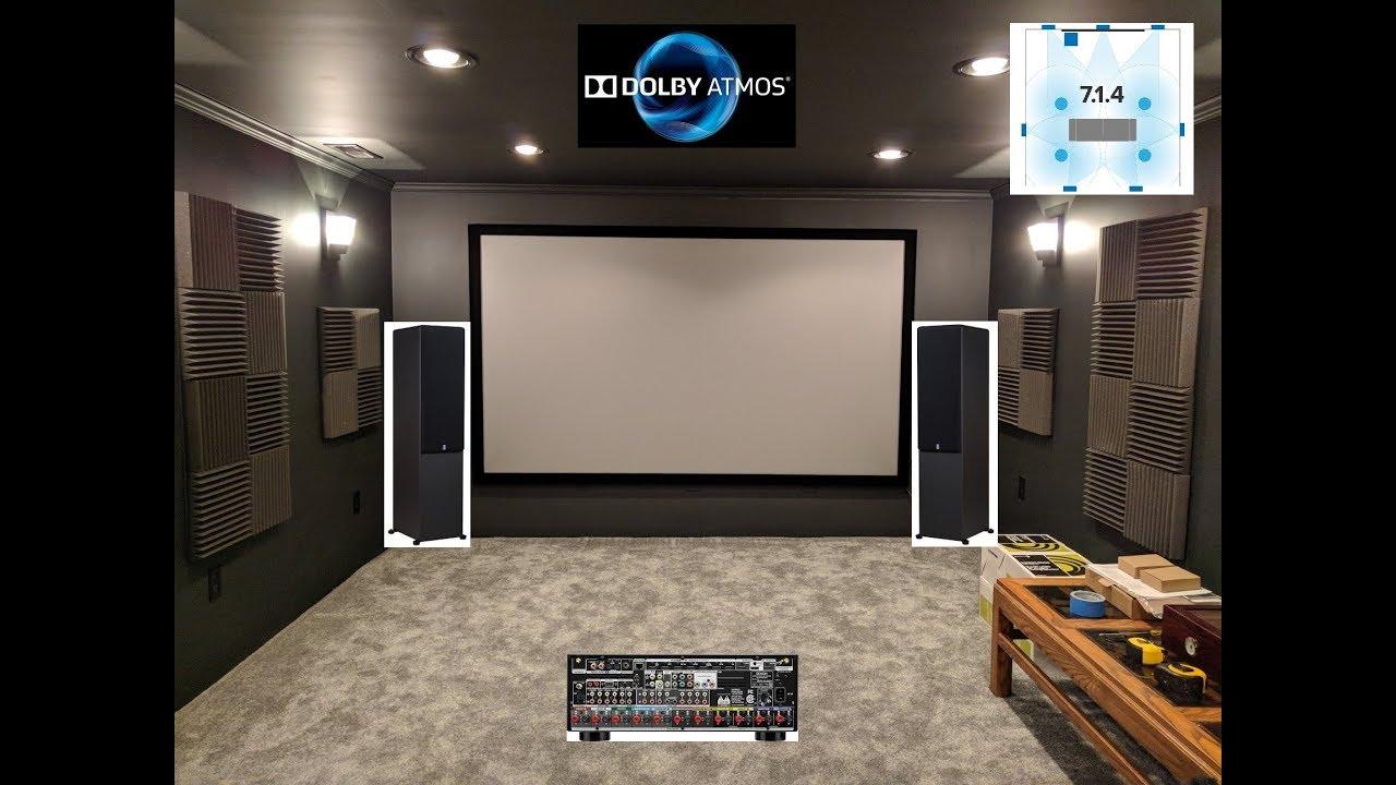home theater update 10 psa mtm 210t speakers 7 1 4 progress high contrast screen youtube. Black Bedroom Furniture Sets. Home Design Ideas