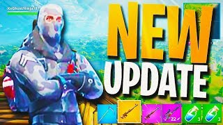 NEW HUNTING RIFLE + LUCKY LANDING MAP GAMEPLAY! - NEW FORTNITE UPDATE! (Fortnite Battle Royale)
