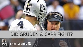Oakland Raiders Rumors: Jon Gruden Fights Derek Carr, Keon Hatcher Re-Signed, & Trust Daniel Carlson