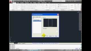 Создание динамического блока в AutoCad 2011
