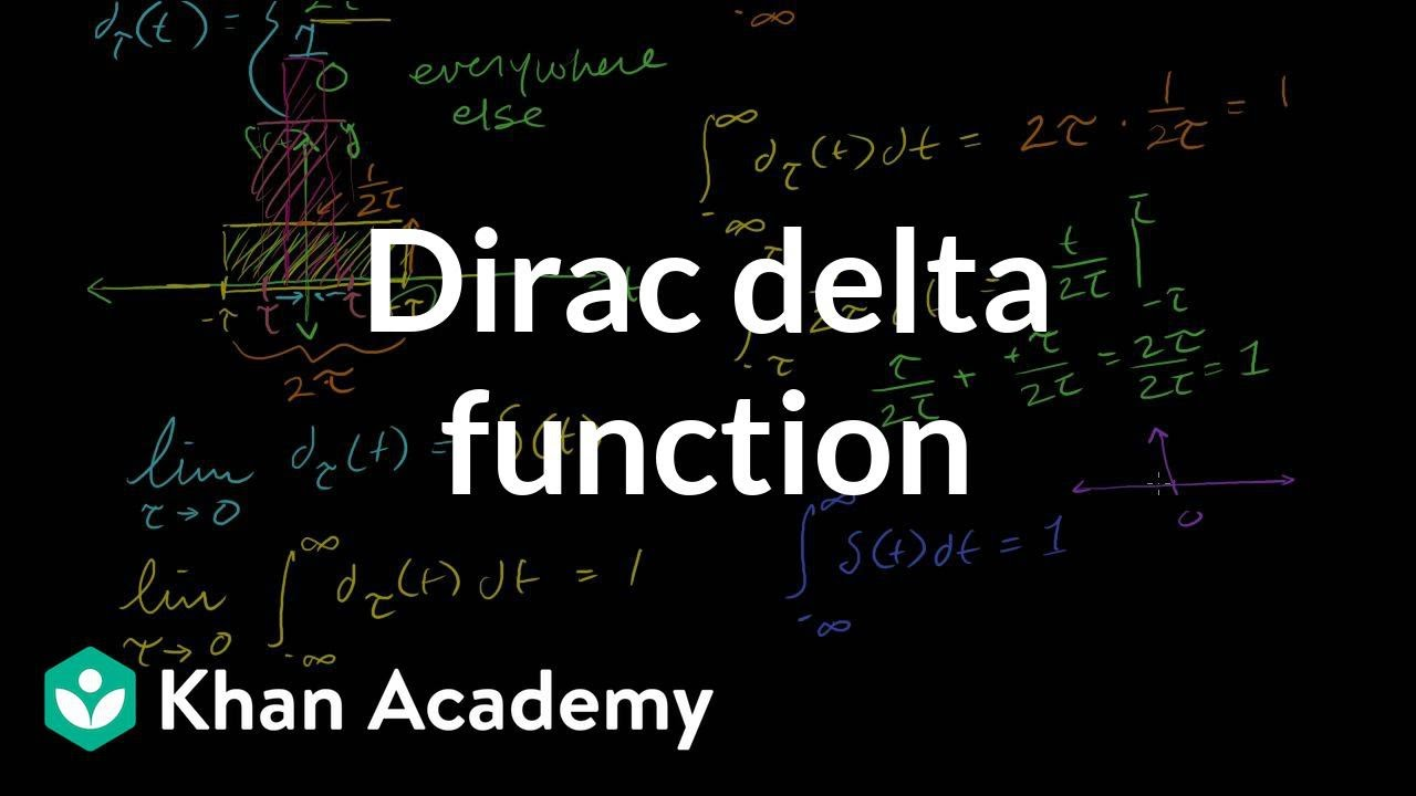 Dirac delta function | Laplace transform | Differential Equations | Khan Academy