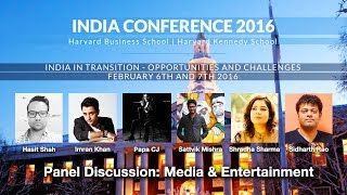 2016 India Conference Panel: Media and Entertainment