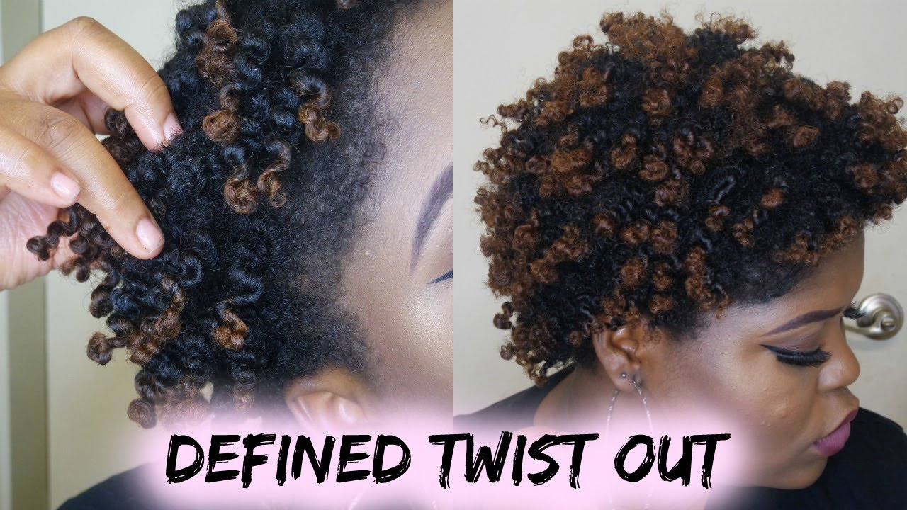 How To Defined Twist Out On Short 4b 4c Natural Hair Youtube