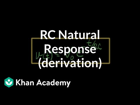 RC natural response derivation (2 of 3)